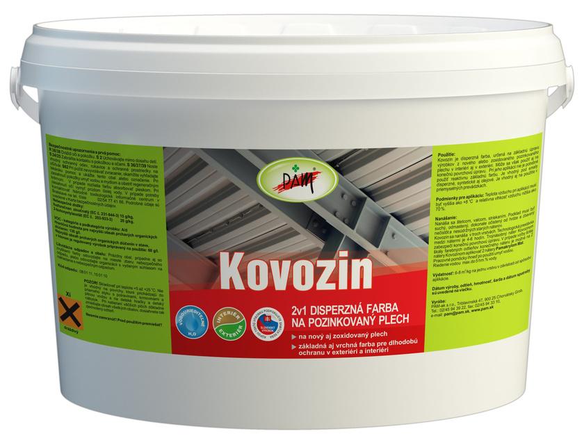 Kovozin - farba na nový pozinkovaný plech biela 4 kg