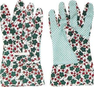 Záhradné rukavice s PVC bodkami Spokar