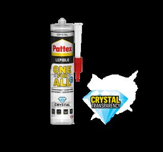 Pattex ONE FOR ALL CRYSTAL Montážne číre lepidlo