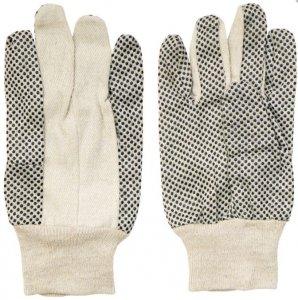 Bavlnené rukavice s PVC bodkami Spokar