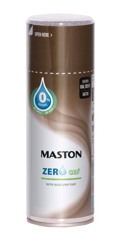 Maston Zero - eko farba v spreji na baze vody 400 ml ral 9005 - čierna