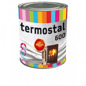 Termostal 600°C - farba na komínové rúry, ohniská, pece