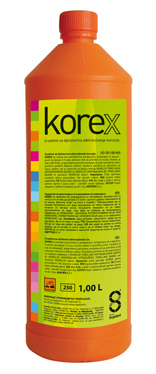 Korex - Prostriedok na odstránenie korózie 1 l transparentná