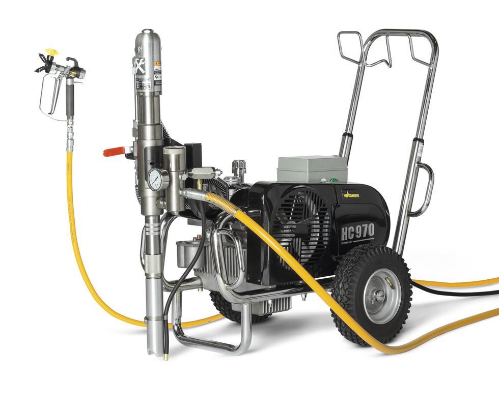 HeavyCoat 970 elektrický pohon- Hydraulické piestové zariadenie - Vozík striekacie zariadenie vozík