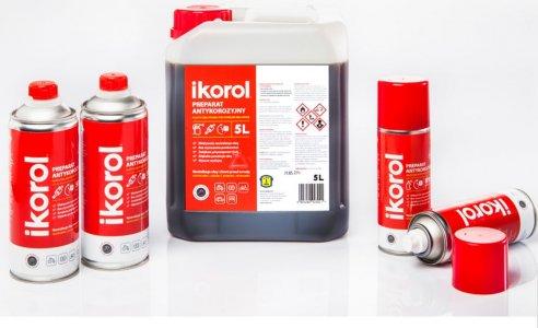Ikorol - prípravok proti hrdzi na skorodované povrchy pred natieraním