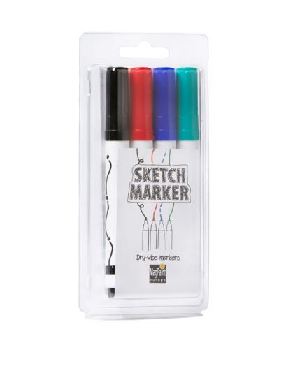 Sada popisovačov pre whiteboard - sada 4 farby v blistri sada 4 ks