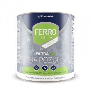 Ferro color profi - vodouriediteľná farba 3v1 na čerstvý pozink