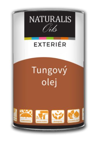 NATURALIS Farebný Tungový olej na drevo - čínsky olej na drevo 5 l 1100 - biela
