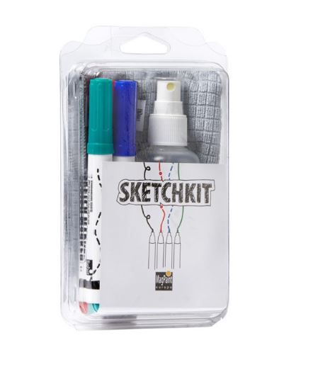 Príslušenstvo pre whiteboardovú farbu - popisovače, čistič, utierka