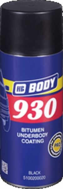 Sprej Hmota Body 930 na spodky áut neprelakovateľná cierna 400 ml
