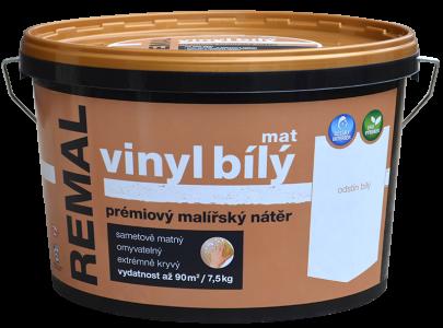 REMAL VINYL BIELY MAT - Biely prémiový maliarsky náter