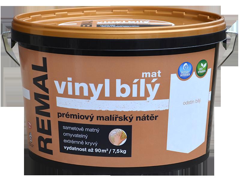 REMAL VINYL BIELY MAT - Biely prémiový maliarsky náter biela 7,5 kg