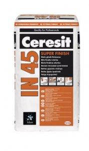 Stierka Ceresit IN45 - sadrová biela finálna stierka