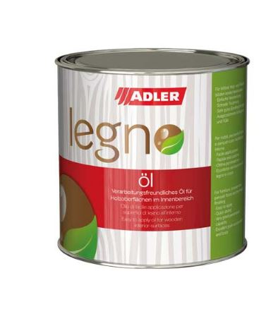 Adler Legno-Öl - rýchloschnúci olej na drevené obklady, podlahy aj detské hračky v interiéri 750 ml farblos - bezfarebný legno ol