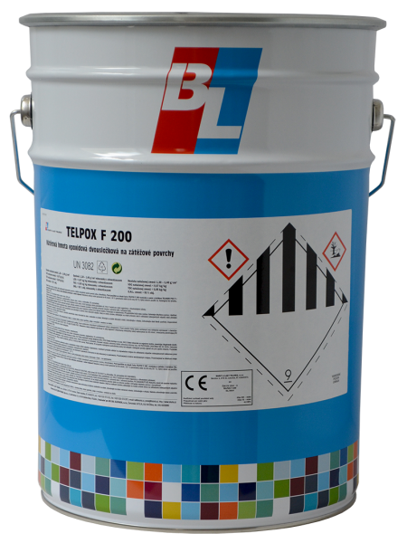 TELPOX F200 - epoxidová dvojzložková farba na zaťažované povrchy