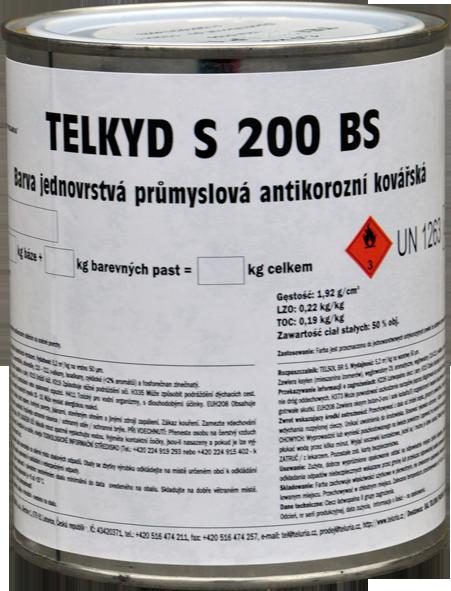 TELKYD S200BS - 2v1 matná syntetická kováčska farba 0,6 l kováčska čierna