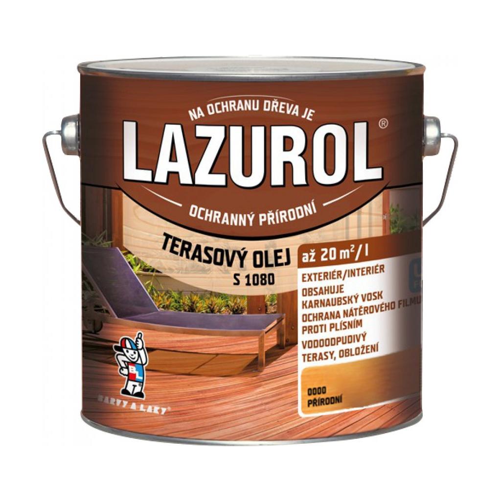 LAZUROL S 1080 - terasový olej 2,5 l 0000 - prírodný