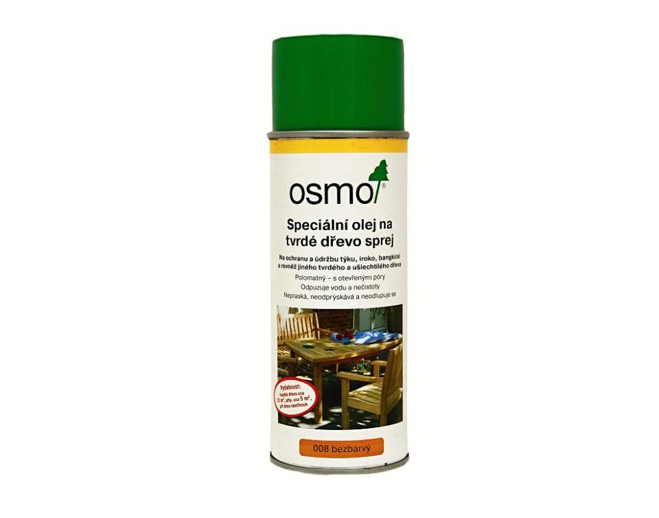 OSMO Olej na záhradný nábytok - sprej 0,4 l 008 - bezfarebný