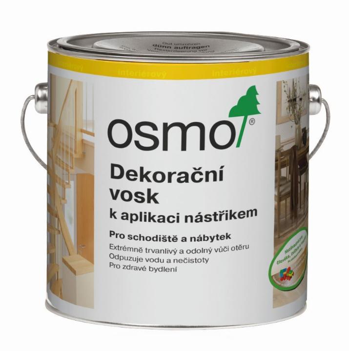 OSMO Dekoračný vosk na aplikáciu striekaním 10 l 3010 - natural