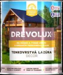 Drevolux Decor - rozpúšťadlová lazúra s obsahom prírodného oleja