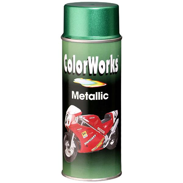 COLORWORKS - Metalický sprej zelená 400 ml
