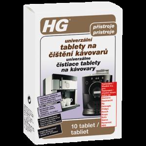 HG Univerzálna tablety na čistenie kávovárov