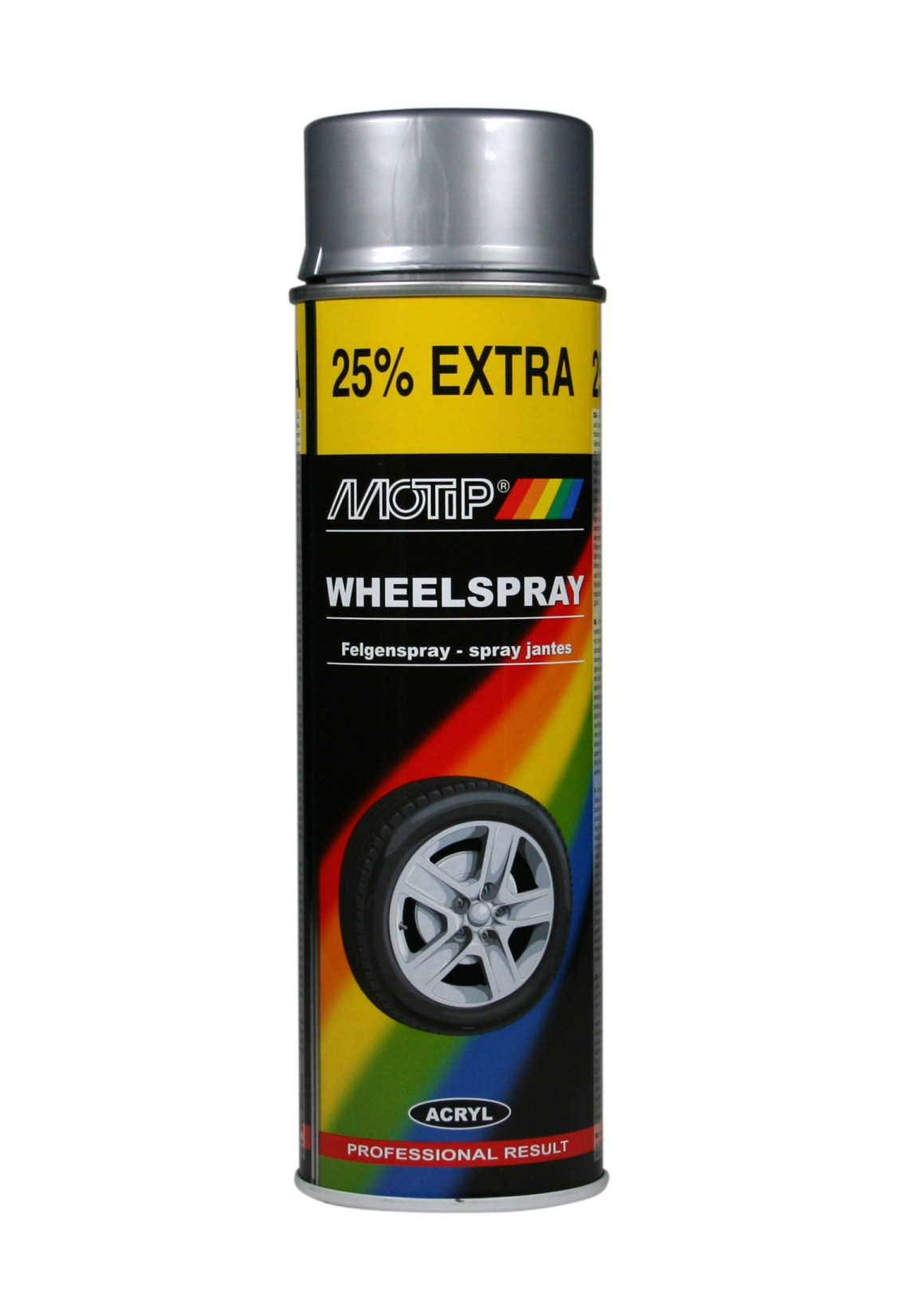MOTIP AUTO - Sprej na disky kolies 500 ml strieborný