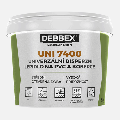 UNI 7400 - Disperzné lepidlo na PVC a koberce 1 kg svetlo béžová