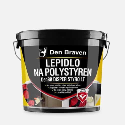 DENBIT DISPER STYRO LT Lepidlo na polystyrén a asfaltové pásy cierna 10 kg