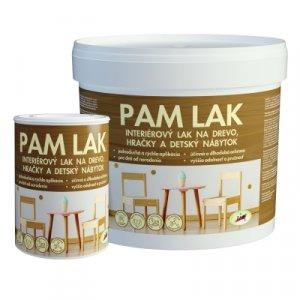 PAM Lak - Interiérový lak na drevo, hračky a detský nábytok
