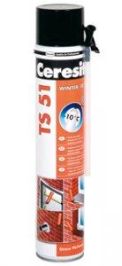 Ceresit TS51 WINTER - Zimná trubičková PUR pena od -10°C