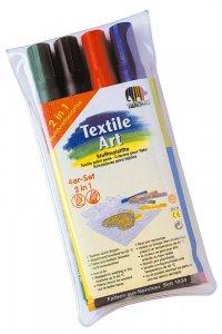 NER Zažehlovacie fixy na textil - sada 4 ks tmavých farieb