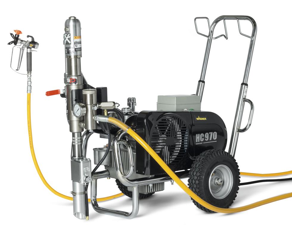 HeavyCoat 950 +SSP elektrický pohon - Hydraulické piestové zariadenie - Vozík striekacie zariadenie vozík