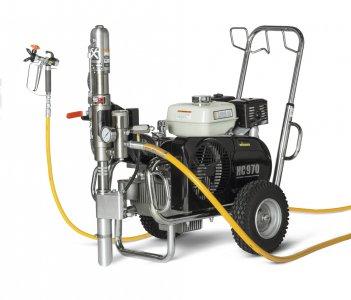 HeavyCoat 970 +SSP benzínový pohon - Hydraulické piestové zariadenie - Vozík
