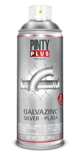 Pinty Plus Tech - galvanizačný základ v spreji 400 ml strieborný