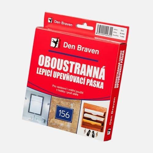 Obojstranne lepiaca a upevňovacia páska v krabičke