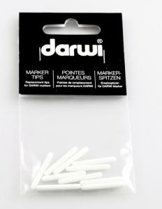 DARWI TEX - Náhradný hrot do fixy na svetlý textil glitter