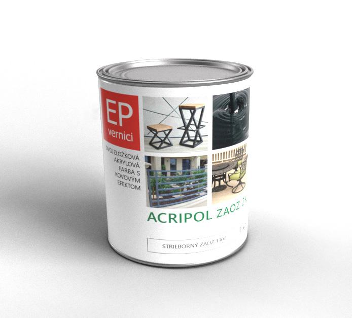 ACRIPOL ZAOZ 2K - Dvojzložková akrylová farba s kovovým efektom