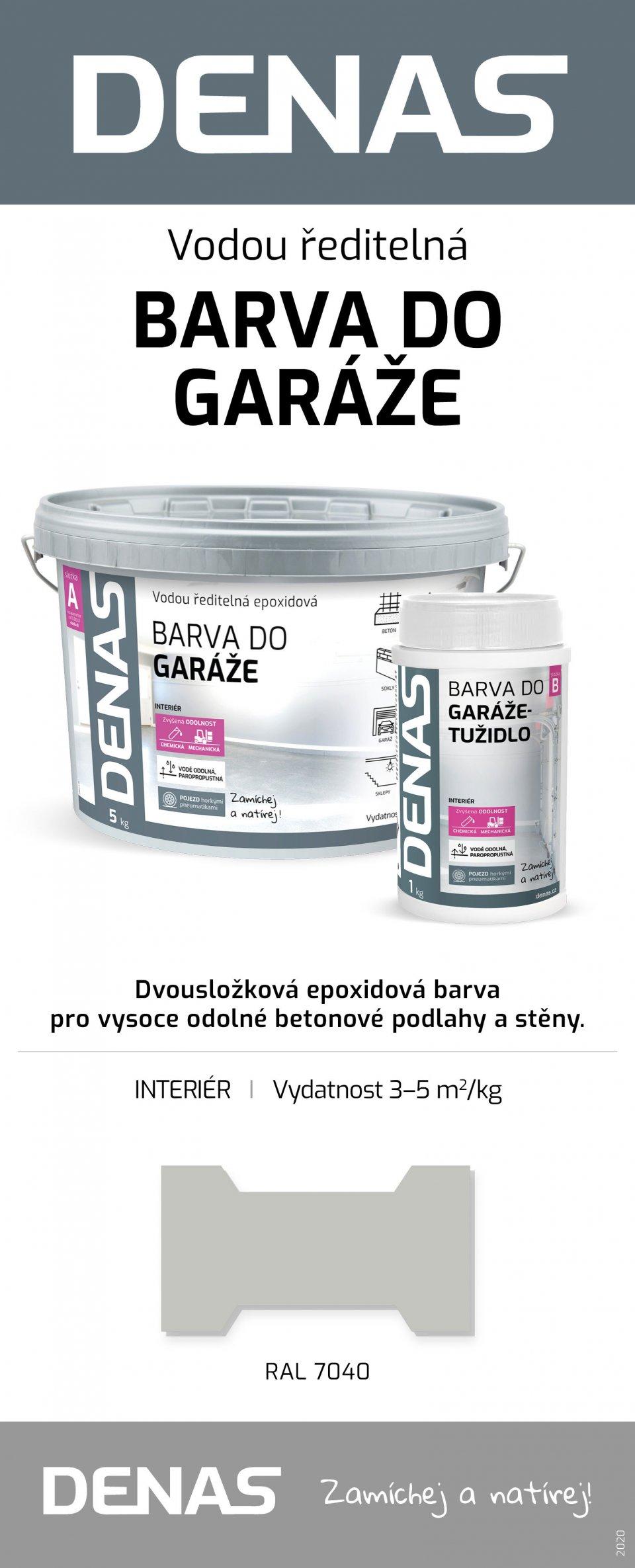 DENAS GARÁŽ - epoxidová 2 zložková farba na podlahu