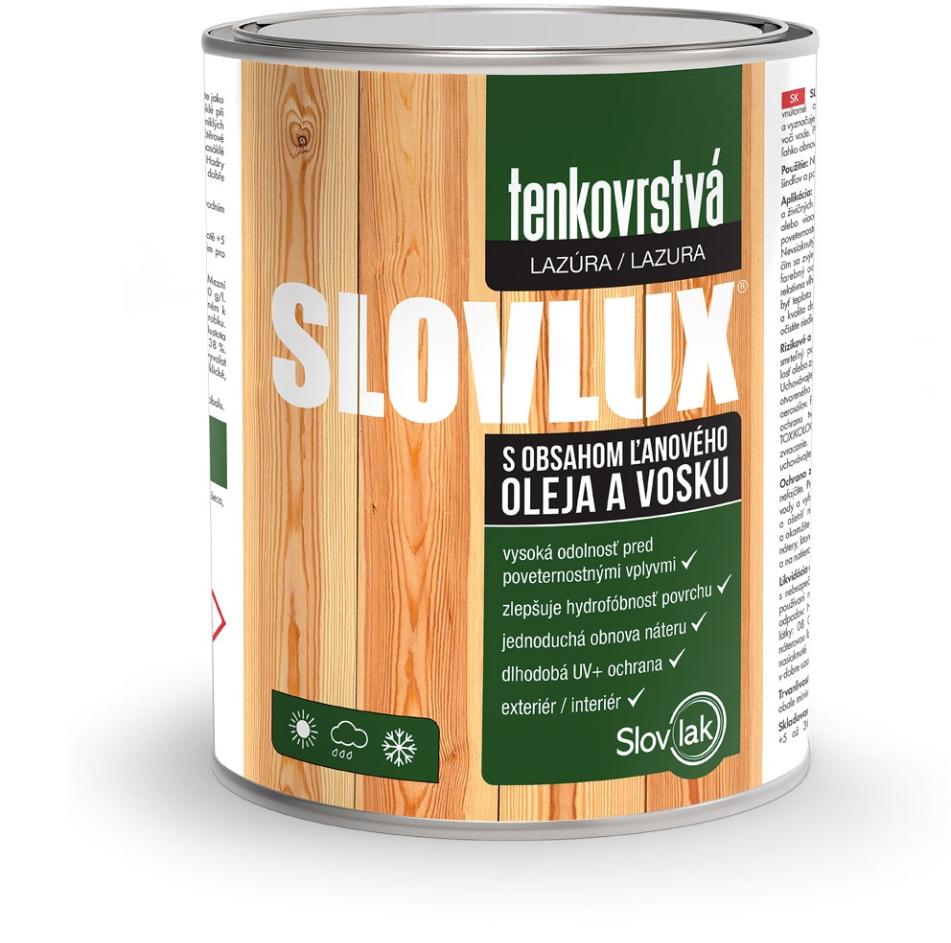 Slovlux tenkovrstvová lazúra na drevo
