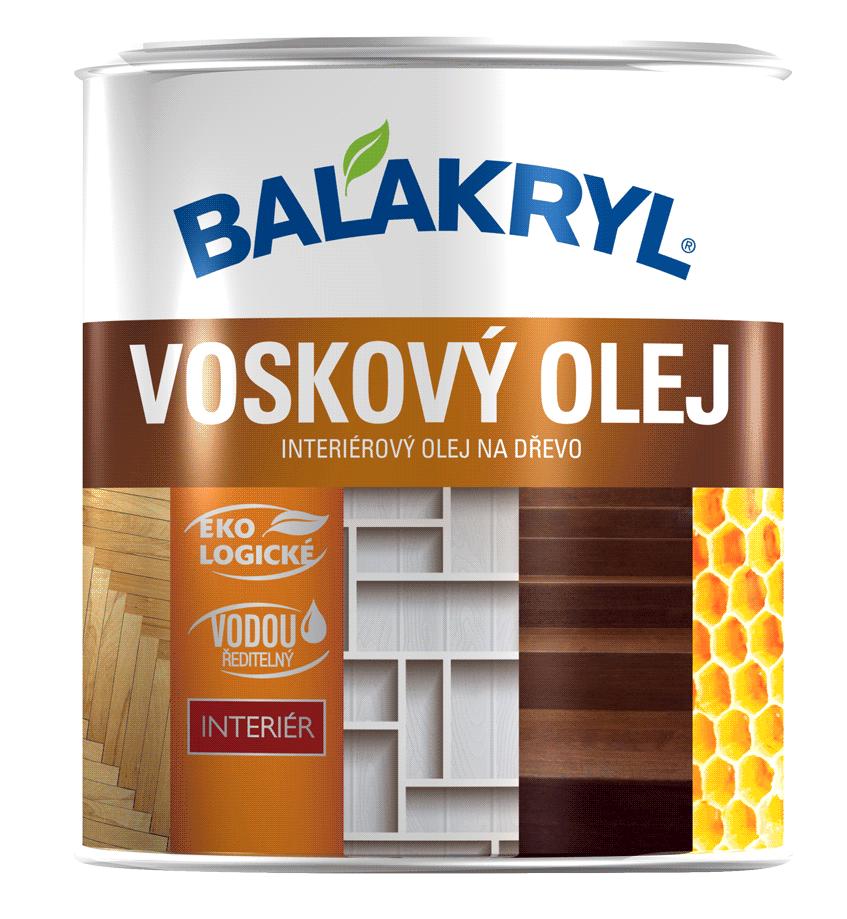 Voskový olej BALAKRYL - interiérový olej na drevo (podlaha, nábytok, steny)