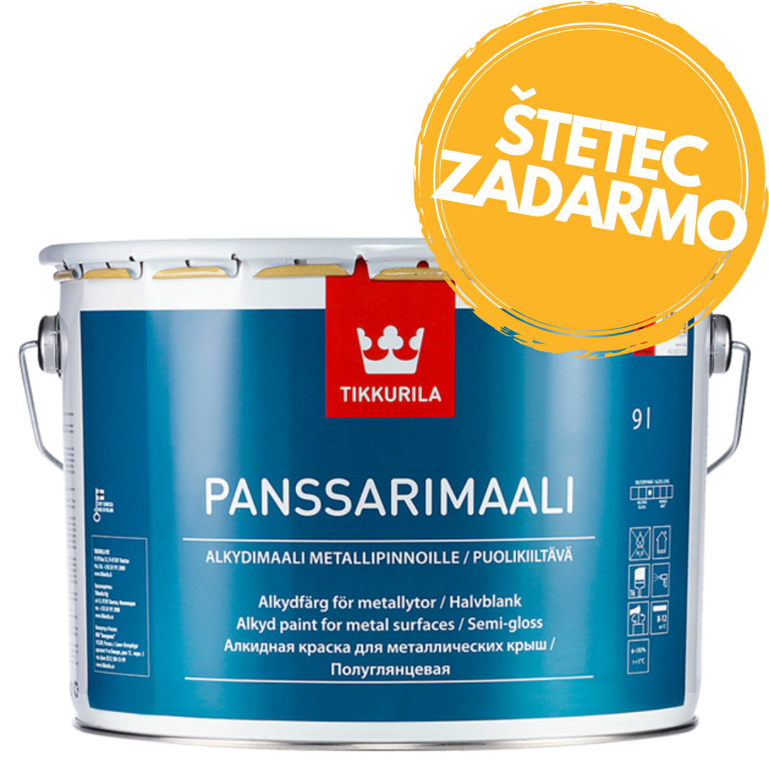 Panssarimaali - antikorózna farba na plechové strechy 9 l tvt 0515 - smoke blue