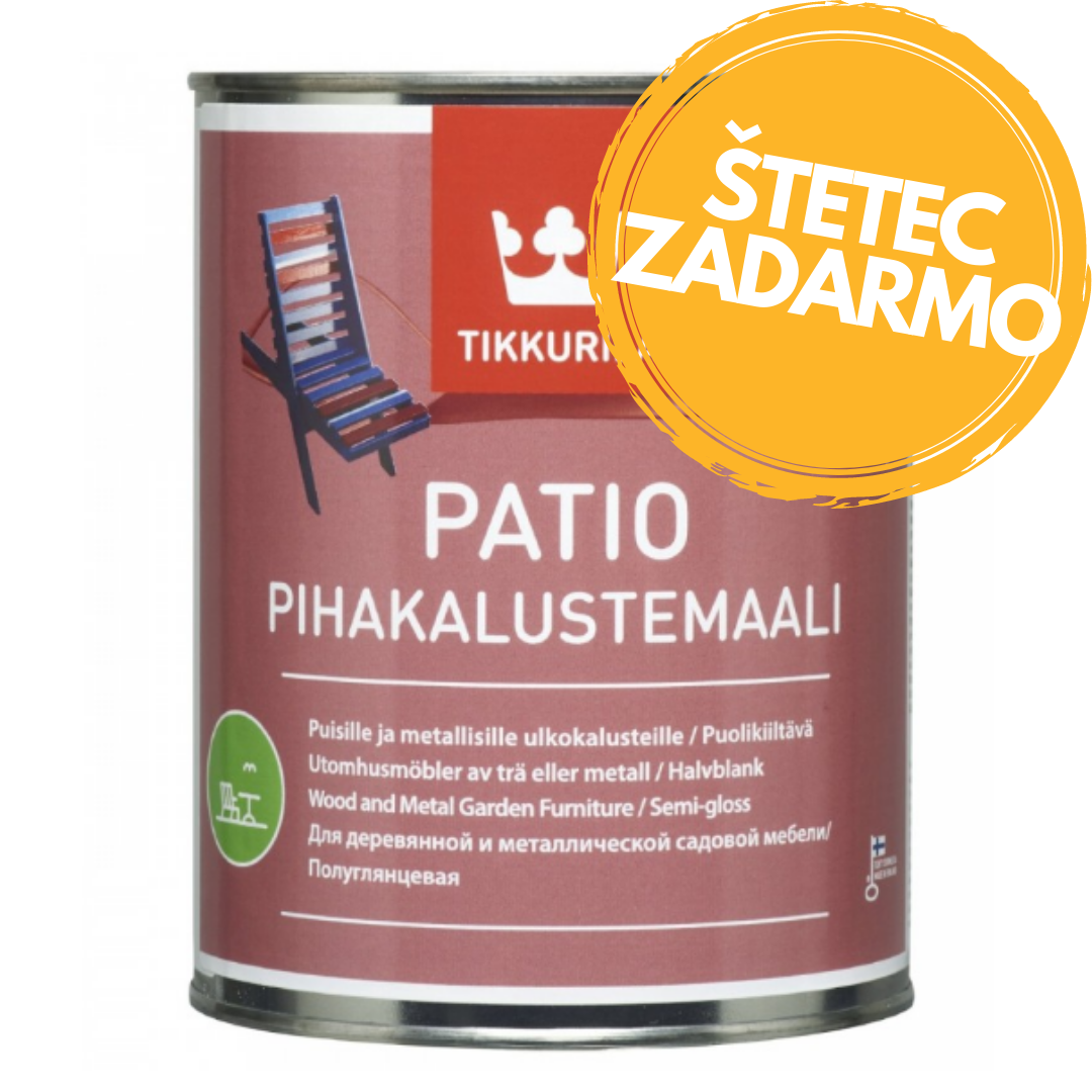 PATIO GARDEN - Farba na záhradný nábytok 0,225 l q818 - tiira