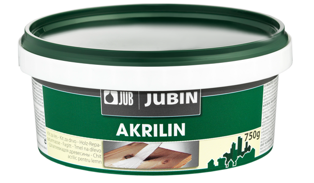 AKRILIN - tmel na drevo 8 kg biely 10