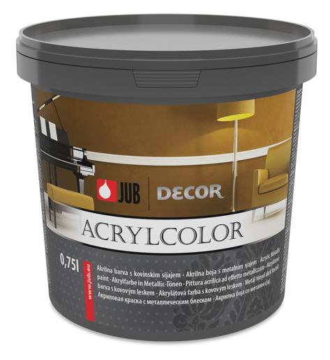 DECOR Acrylcolor - metalická farba do interiéru 0,75 l zlatý