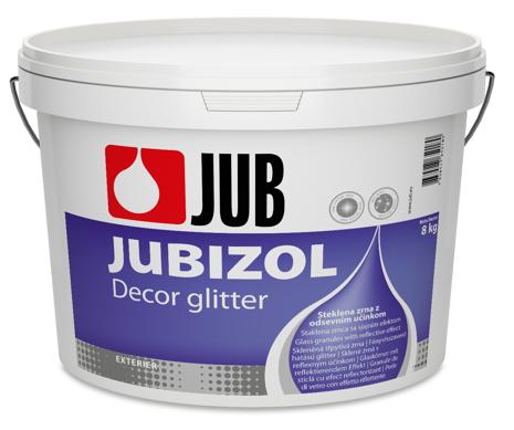 JUBIZOL Decor glitter - sklené zrná s reflexným efektom 8 kg glitter