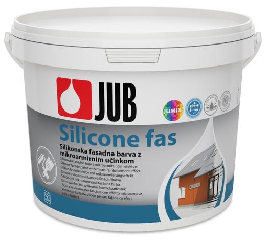 SILICONE FAS - silikónová mikroarmová fasádna farba biely 2 l