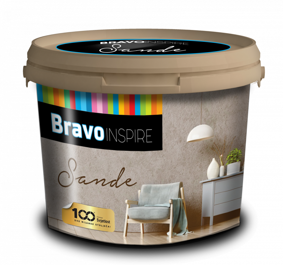 BRAVO INSPIRE SANDE - Dekoratívna farba do interiéru
