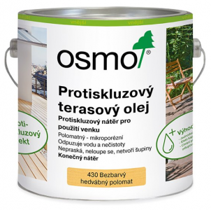 OSMO Terasový olej 430 - protišmykový olej na terasu