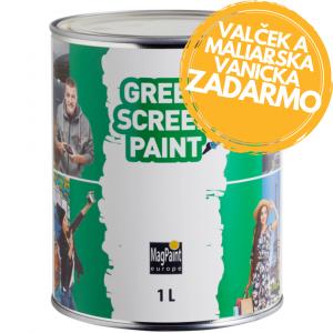 Greenscreen Paint - Farba pre vytvorenie zeleného pozadia